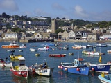Summer Sunshine on Boats in the Old Harbour  St Ives  Cornwall  England  United Kingdom  Europe