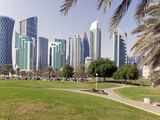 Modern Skyline of the West Bay Central Financial District  Doha  Qatar  Middle East
