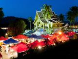 Haw Pha Bang Temple at Night  Luang Prabang  Laos  Indochina  Southeast Asia  Asia