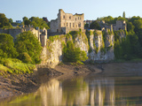 Chepstow Castle and the River Wye  Gwent  Wales  United Kingdom  Europe