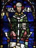 Portrait of St Thomas Becket  Canterbury Cathedral  UNESCO World Heritage Site  England