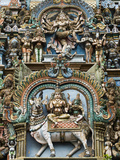 Detail of Hindu Carvings  Sri Meenakshi Sundareshwara Temple  Madurai  Tamil Nadu  India  Asia