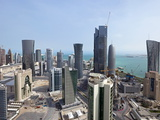 New Skyline of the West Bay Central Financial District  Doha  Qatar  Middle East