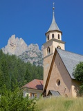 Village Church  Fontanac  Fassa Valley  Trento Province  Trentino-Alto Adige/South Tyrol  Italy