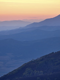 Mountain Layers at Sunset  Manti-La Sal National Forest  Utah  USA  North America