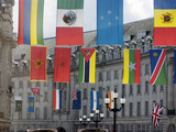 Flags  Regent Street  West End  London  England  United Kingdom  Europe