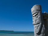 Traditional Wood Carving at the Ile Des Pins  New Caledonia  Melanesia  South Pacific  Pacific