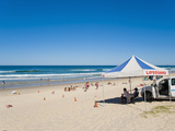 Surfers Paradise Beach and Lifeguards at Surfers Paradise  the Gold Coast  Queensland  Australia