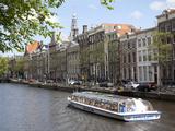 Zuiderkerk and Canal  Amsterdam  Holland  Europe
