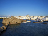 Venetian Fortress and Port  Naoussa  Paros  Cyclades  Aegean  Greek Islands  Greece  Europe