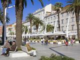 Cafes on the Riva in Split  Croatia  Europe