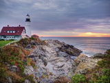 Portland Head Lighthouse at Sunrise  Portland  Maine  New England  USA  North America