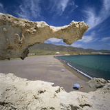 Beach Scene  Near San Jose  Cabo de Gata  Costa de Almeria  Andalucia  Spain  Europe