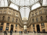 Low Angle View of the Interior of the Galleria Umberto I  Naples  Campania  Italy  Europe