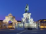 Praca Do Comercio with Equestrian Statue of Dom Jose and Arco Da Rua Augusta  Lisbon  Portugal