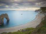 Durdle Door  Eroded Rock Arch  Beach  Jurassic Coast  UNESCO World Heritage Site  Dorset  England