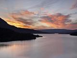 Sunrise over St Mary Lake  Glacier National Park  Montana  United States of America  North America