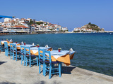 Restaurants on Harbour  Kokkari  Samos  Aegean Islands  Greece