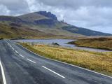 Road to Old Man of Storr Mountain  Trotternish Peninsula  Isle of Skye  Inner Hebrides  Scotland