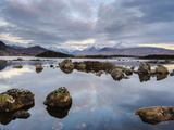 Snow Covered Mountains  Lochan Na H Achlaise  Rannoch Moor  Argyll and Bute  Highlands  Scotland