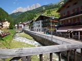 Village and River  Ciampedel  Fassa Valley  Trento Province  Trentino-Alto Adige/South Tyrol  Italy