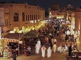 The Restored Souq Waqif with Mud Rendered Shops and Exposed Timber Beams  Doha  Qatar  Middle East