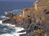 The Crown Engine Houses Near to Botallack  UNESCO World Heritage Site  Cornwall  England  UK