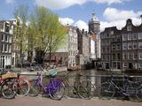 Voorburgwal Canal and Nicolaaskirk  Amsterdam  Holland  Europe
