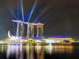 Marina Bay Sands at Night  Marina Bay  Singapore  Southeast Asia  Asia