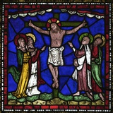 Crucifixion Stained Glass  Canterbury Cathedral  UNESCO World Heritage Site  Canterbury  England