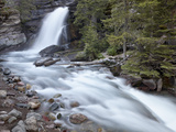 Baring Creek Falls  Glacier National Park  Montana  United States of America  North America