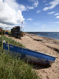 Fishing Boat on the Beach at Carnoustie  Angus  Scotland  United Kingdom  Europe