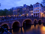 Canal and Bridge  Amsterdam  Holland  Europe