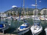 View across Marina  Marbella  Andalucia  Costa del Sol  Spain  Europe