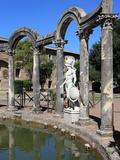Hadrian's Villa  Canopus Canal  UNESCO World Heritage Site  Tivoli  Rome  Lazio  Italy  Europe