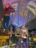 The Freemont Street Experience in Downtown Las Vegas  Las Vegas  Nevada  USA  North America