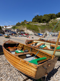 Fishing Boats on Pebble Beach  Devon Heritage Coast  UNESCO World Heritage Site  England