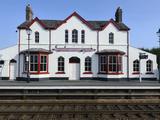 Station Building at Llanfairpwllgwyngyllgogerychwyrndrobwllllantysiliogogogoch  Wales  UK