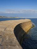 Stone Cobb/Harbour Wall  Famous Landmark of Lyme Regis  UNESCO World Heritage Site  Dorset  England