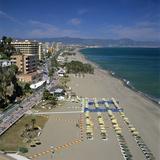View Along Beach  Torremolinos  Costa del Sol  Andalucia  Spain  Mediterranean  Europe
