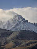 Mount Sneffels with Fresh Snow  San Juan Mountains  Uncompahgre National Forest  Colorado  USA
