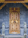 Beautiful Gold Door at Besakih Temple (Pura Besakih)  Bali  Indonesia  Southeast Asia  Asia