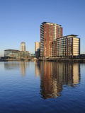 Modern Apartments and Mediacity Uk Complex  Salford Quays  Manchester  Greater Manchester  England