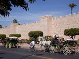 Walls of the Old City and Medina  Marrakesh  Morocco  North Africa  Africa