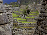 Inca Wall  Machu Picchu  Peru  Lost City of Inca  Rediscovered by Hiram Bingham  1911