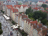 Aerial View of Colourful Building Facades on Long Market (Dlugi Targ)  Gdansk  Pomerania  Poland