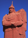 Genghis Khan Statue in Muron  Mongolia  Central Asia  Asia