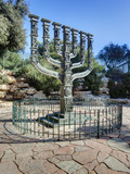 The Menorah Sculpture by Benno Elkan at Entrance to Knesset  Israeli Parliament  Jerusalem  Israel