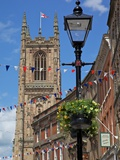 Cathedral and Lamp Post  Derby  Derbyshire  England  United Kingdom  Europe