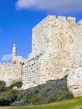 Citadel (Tower of David)  Old City Walls  UNESCO World Heritage Site  Jerusalem  Israel